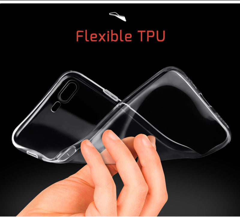 Crystal Clear Soft Flexible Gel TPU Skin Case For iPhone 7 / 7 Plus
