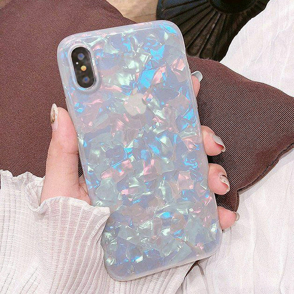 Case For Samsung S8+ Plus Cover Marble Silicone Skin TPU Bumper-Rainbow