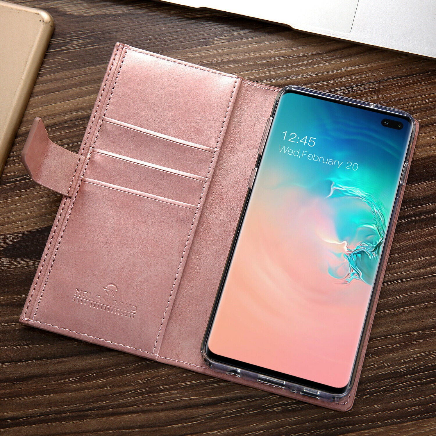 Samsung Galaxy S8 Zipper Leather Wallet Card Magnetic Case Cover-Wine