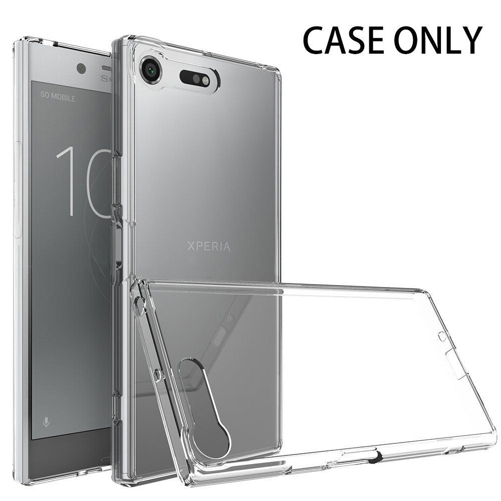 Sony Xperia XZ Premium Case Cover, TAGGSHIELD Crystal Clear AIR Bumper Case