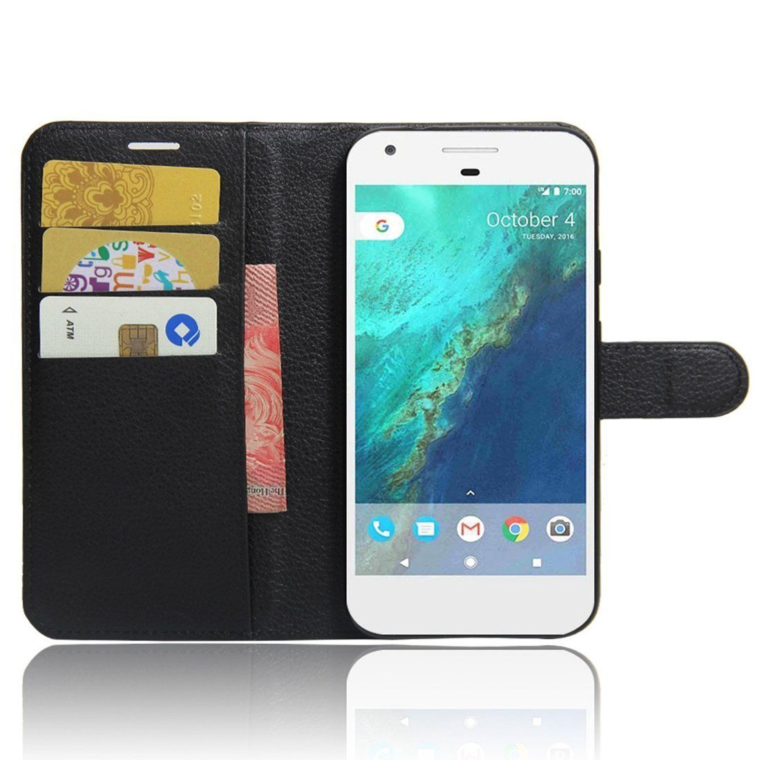 Google Pixel 2 Case Cover, Wallet Flip PU Leather Case