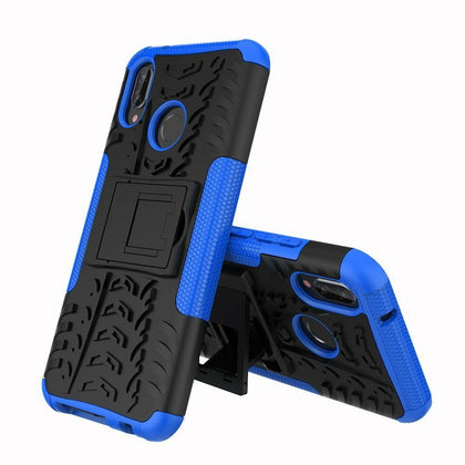 For Huawei Nova 3i Heavy Duty Tough Shockproof Strong Case Cover-Blue