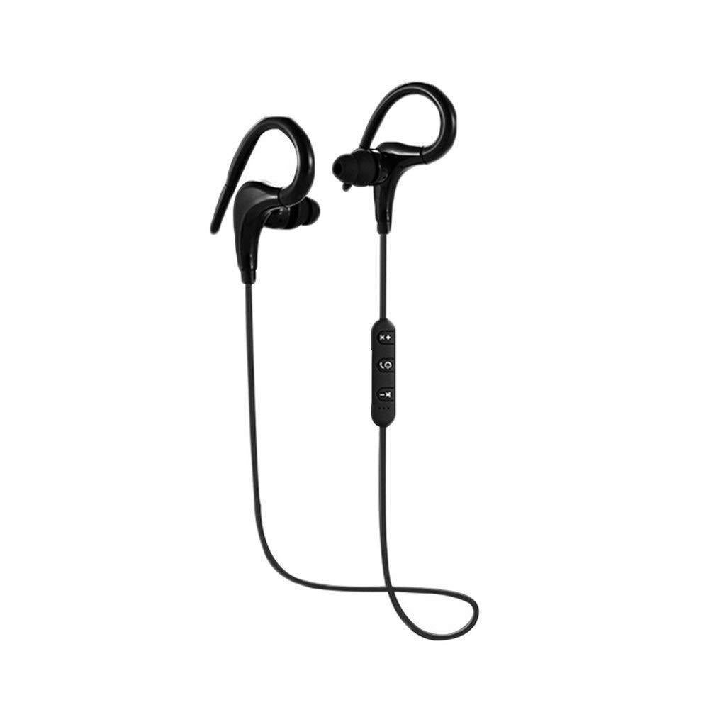 Wireless Sports Bluetooth Headphones,Stereo Earbuds Noise Cancelling Earphones-Black