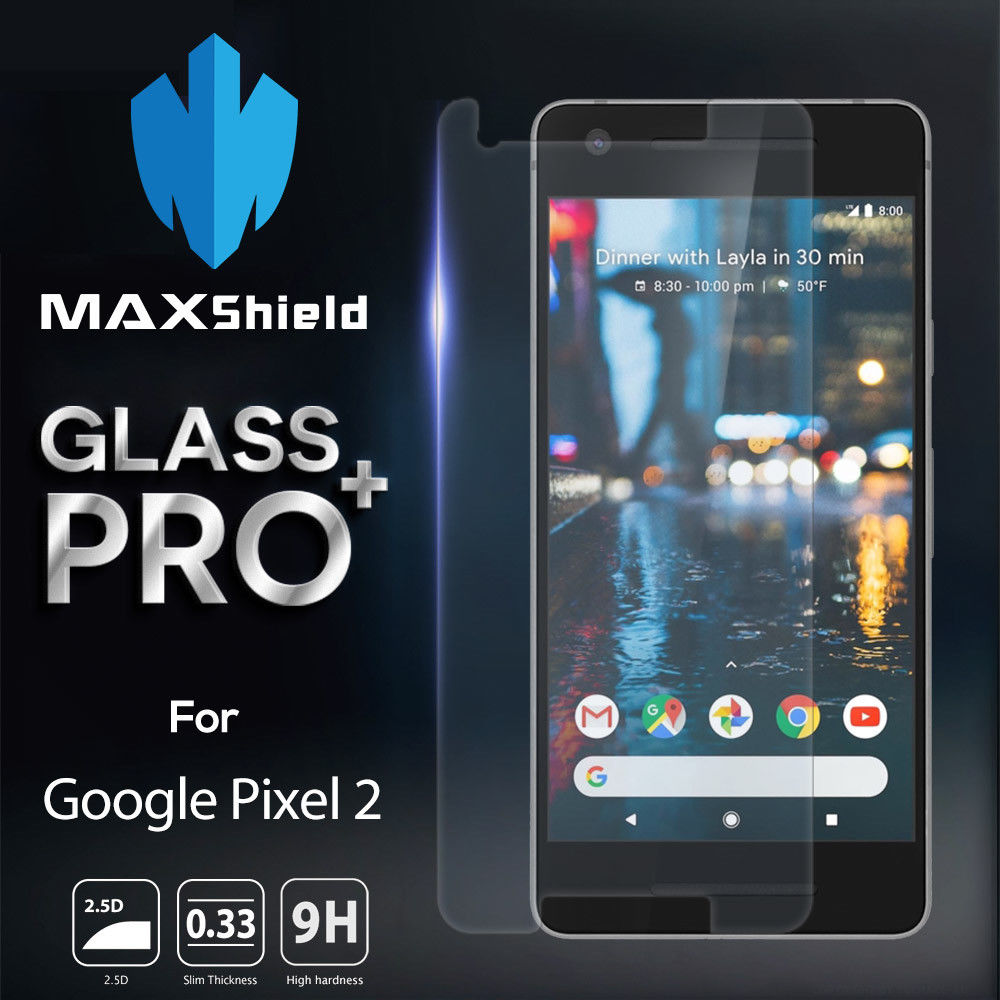 MAXSHIELD TEMPERED GLASS SCREEN PROTECTOR FOR Google Pixel 2 XL
