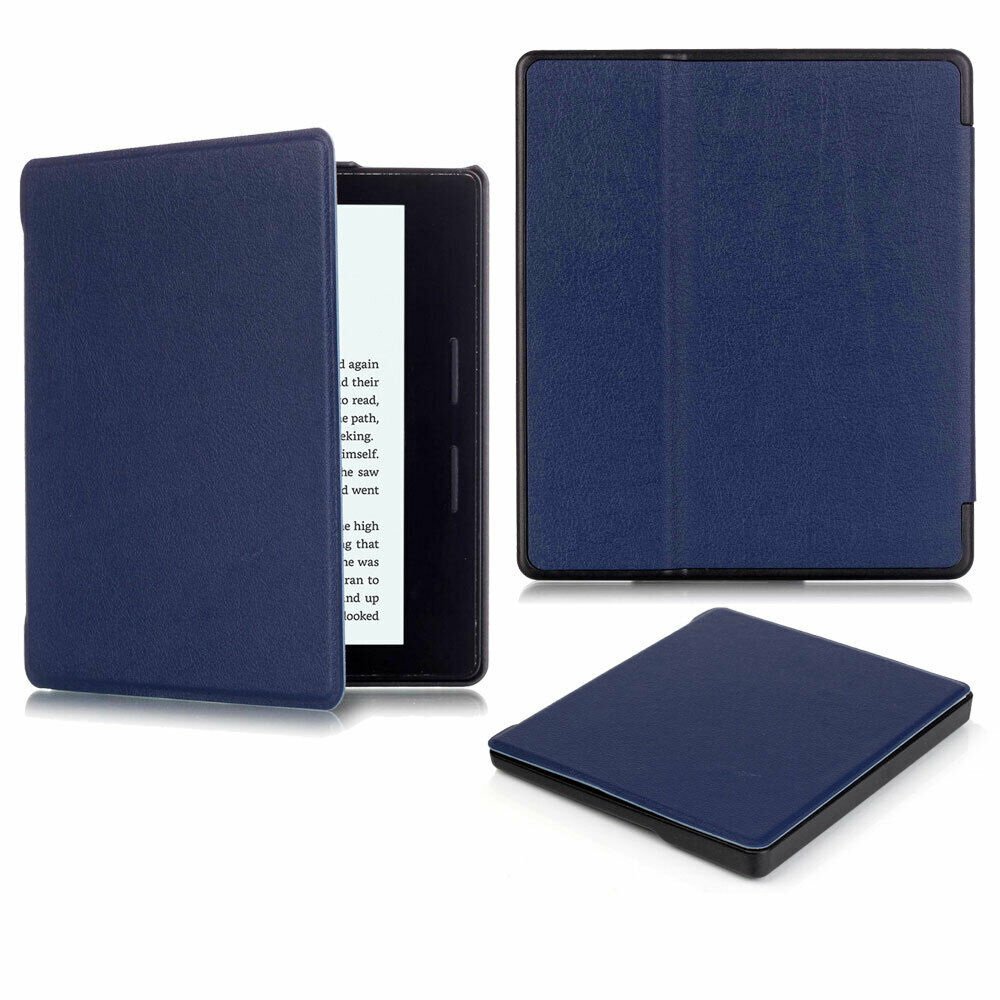 For Amazon Kindle Oasis 2019 Case 7'' 10th Gen Magnetic Leather Smart Cover--black