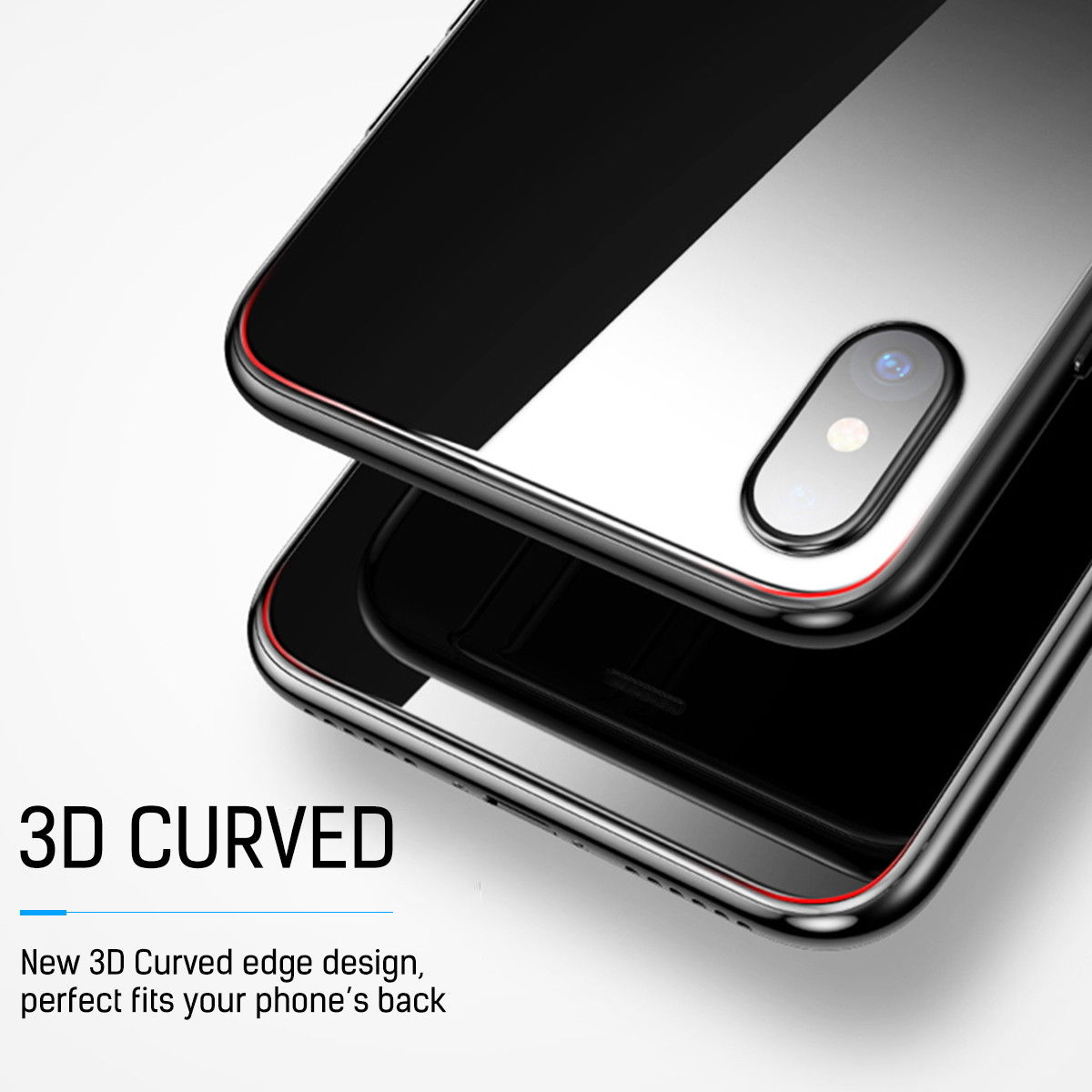 For iPhone 7 Plus Front & Back 3D Tempered Glass Screen Protector Cover