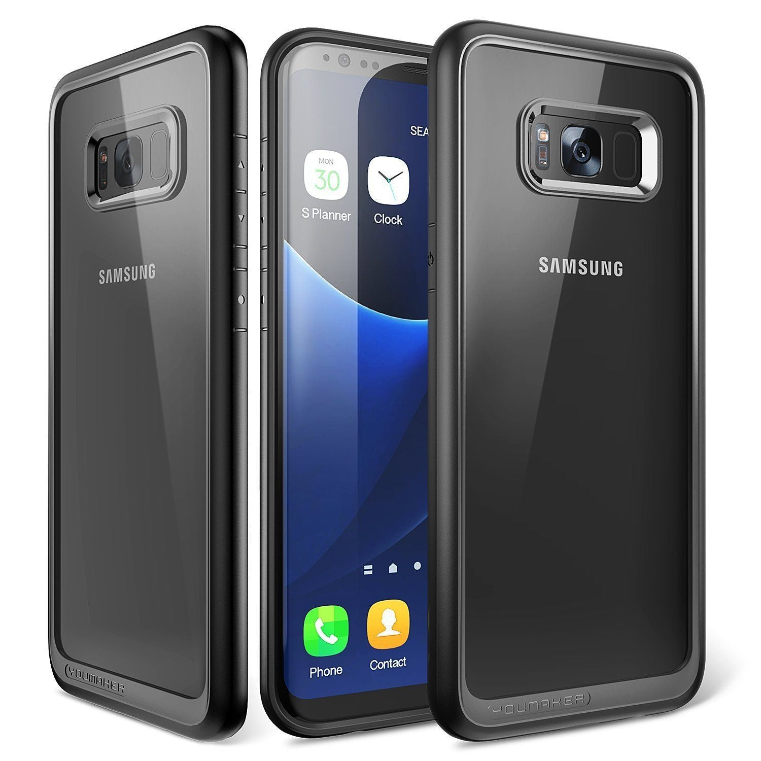YOUMAKER® Samsung Galaxy S9 Plus Shockproof Slim Bumper Crystal Case Cover