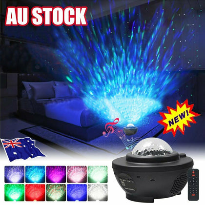 LED Galaxy Starry Night Light Laser Projector Ocean Star Sky Party Speaker Lamp