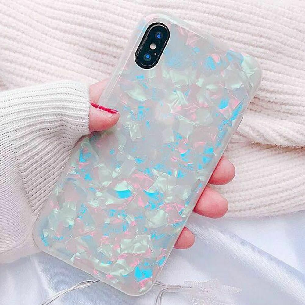 Case For Samsung S8+ Plus Cover Marble Silicone Skin TPU Bumper-Pink