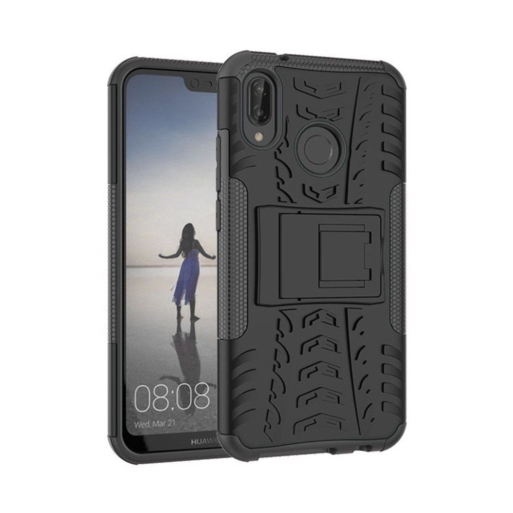 For Huawei Nova 3i Heavy Duty Tough Shockproof Strong Case Cover-Black