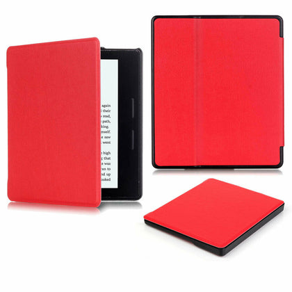 For Amazon Kindle Oasis 2019 Case 7'' 10th Gen Magnetic Leather Smart Cover--Red
