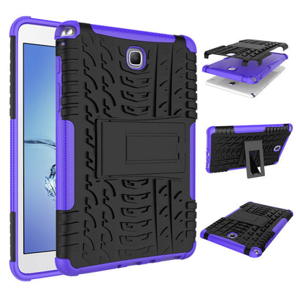 Tough Heavy Duty Strong Case Cover For Samsung Galaxy Tab A 8.0 T350 T355-Purple
