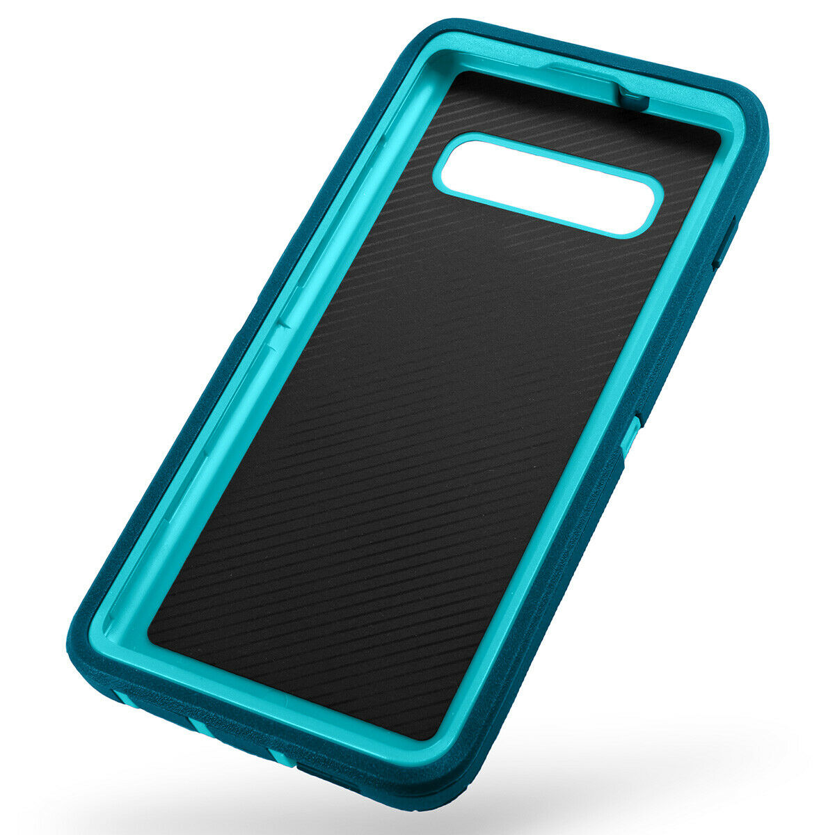 Samsung Galaxy S10+ Case Shockproof Hybrid Rubber Armor Rugged Cover-Dark Blue/Light Blue