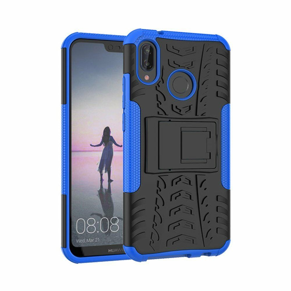 For Huawei Nova 3i Heavy Duty Tough Shockproof Strong Case Cover-Red