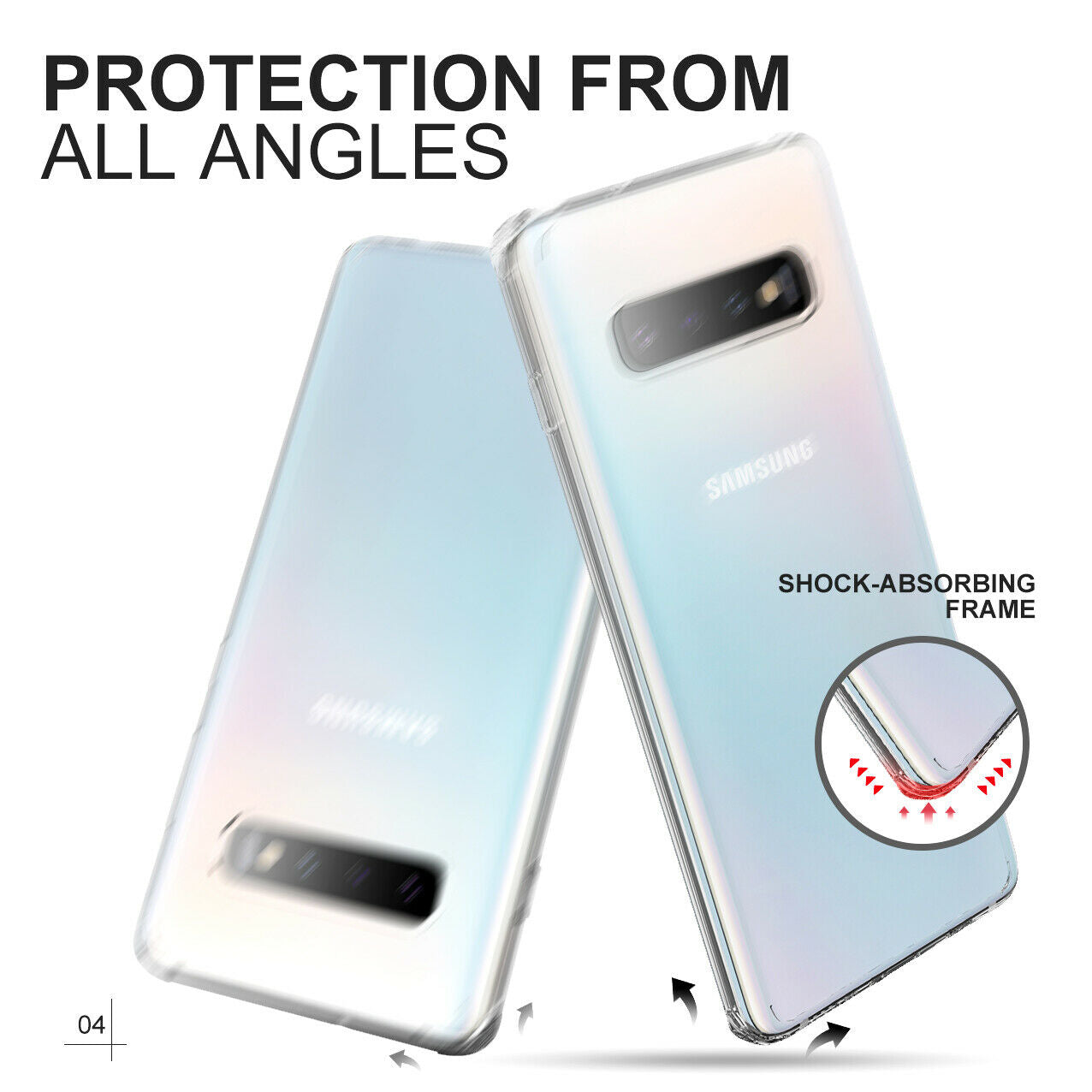 Samsung Galaxy S10 Plus Case Shockproof Crystal Bumper Case Cover