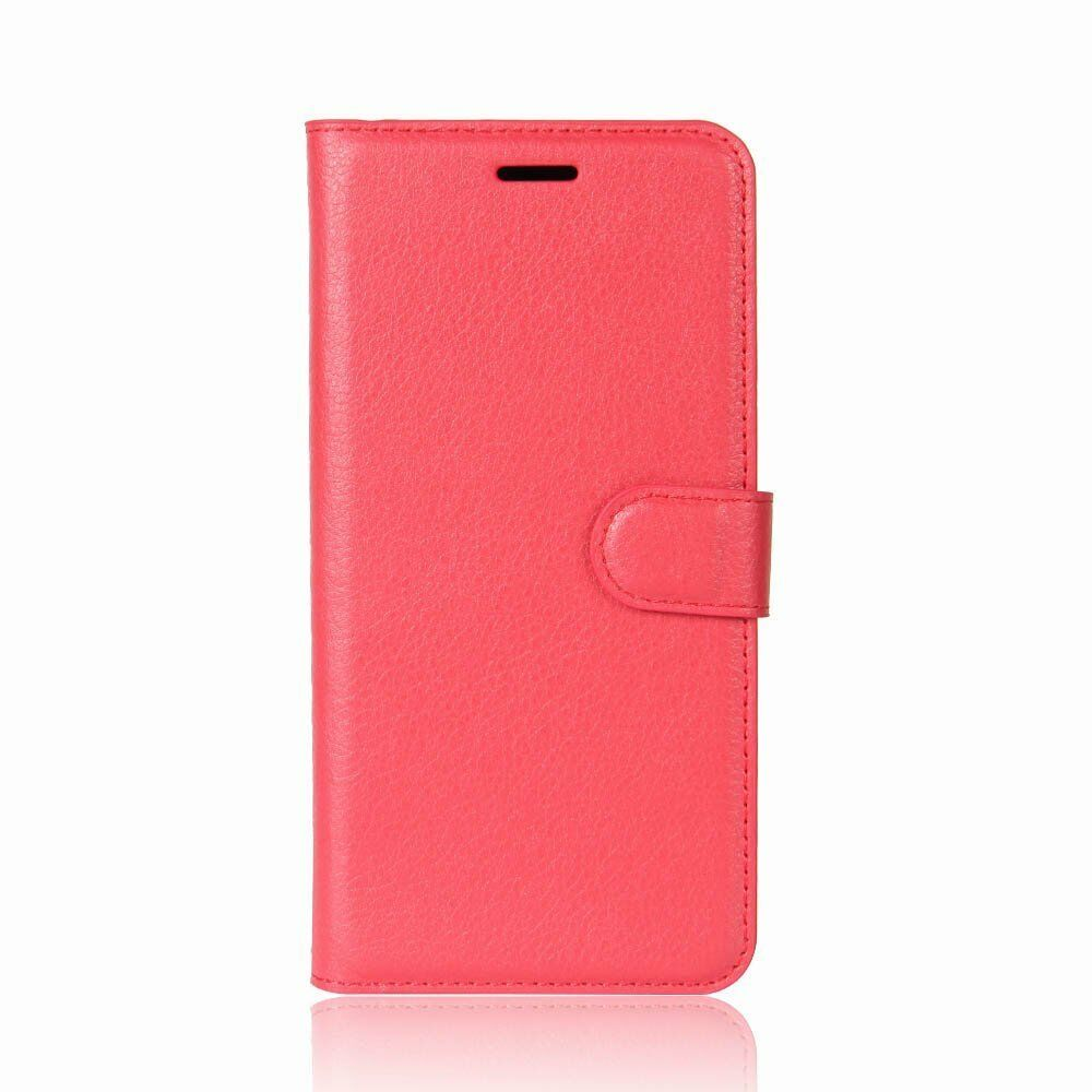 Oppo AX7 Premium Leather Wallet Case Cover For Oppo Case-Sky Blue