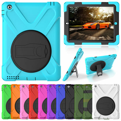 Heavy Duty Hybrid Shockproof Case Cover For iPad 5th 9.7'' 2017