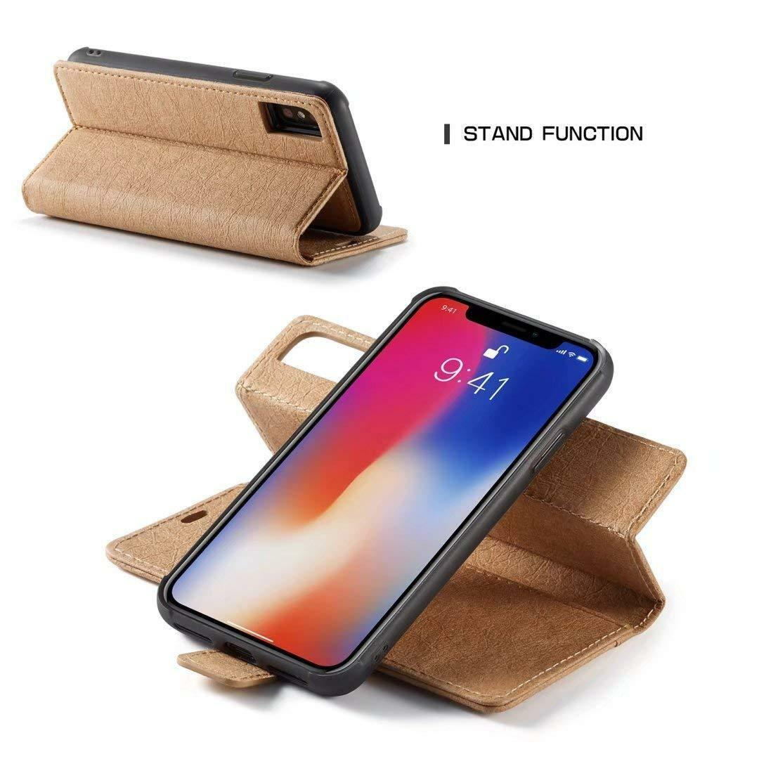 iPhone XR Luxury Magnetic Leather Removable Wallet Case