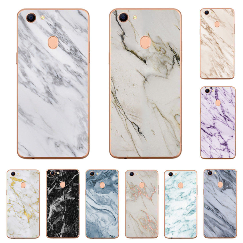 OPPO AX5 Case Marble Pattern Soft TPU Silicone Shockproof Cover Skin