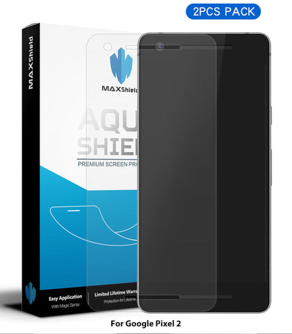Google Pixel 2 Screen Protector, Genuine MaxShield HD Aqua Crystal Shield