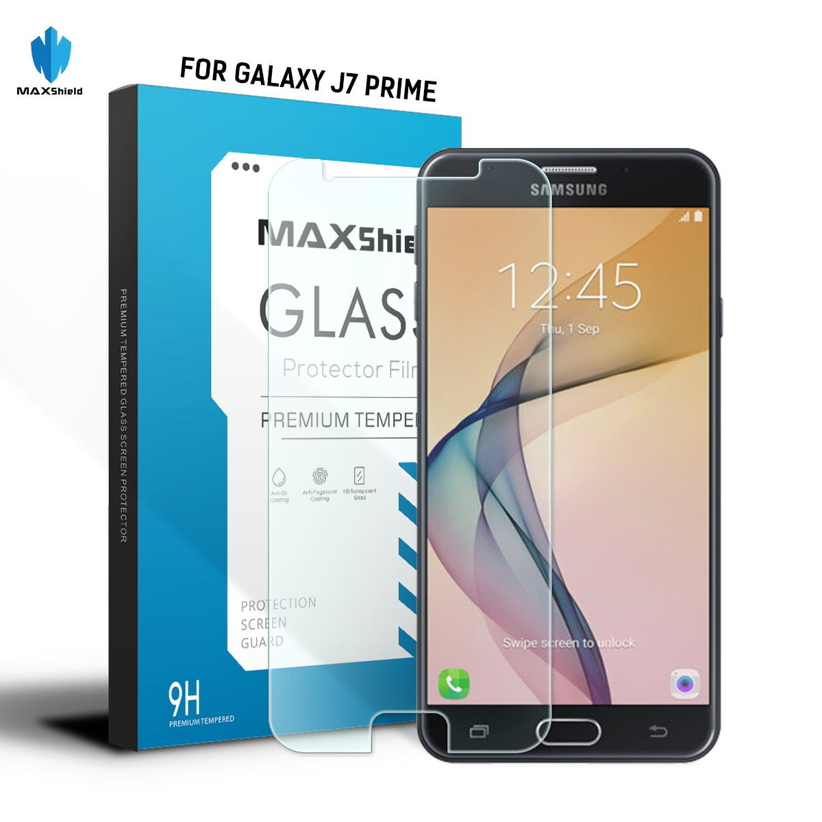 MAXSHIELD Tempered Glass Screen Protector For Samsung Galaxy J7 Prime