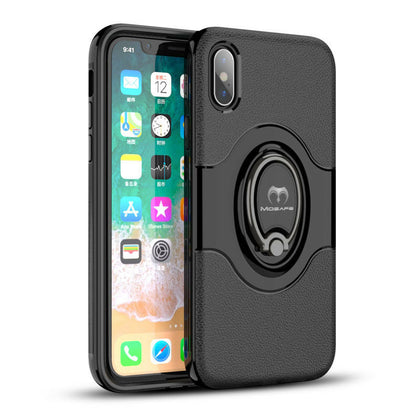 iPhone XR Ring Magnetic Shockproof Hybrid TPU Bumper Case
