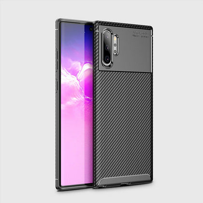 For Samsung Galaxy Note 10 Plus Carbon Fiber Rubber Case TPU Slim Matte Cover