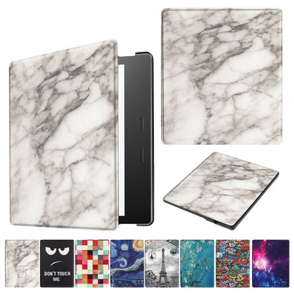 For New Amazon All New Kindle 2019 Gen Painting Leather Smart Cover--Marble