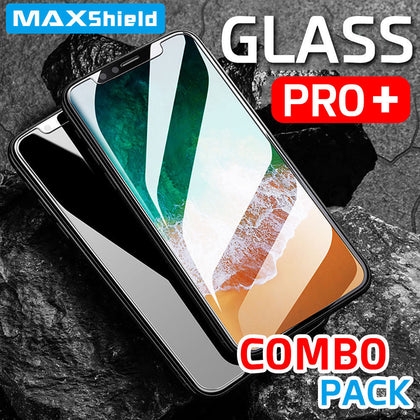 2 X Genuine MAXSHIELD Apple iPhone X Tempered Glass Screen Protector