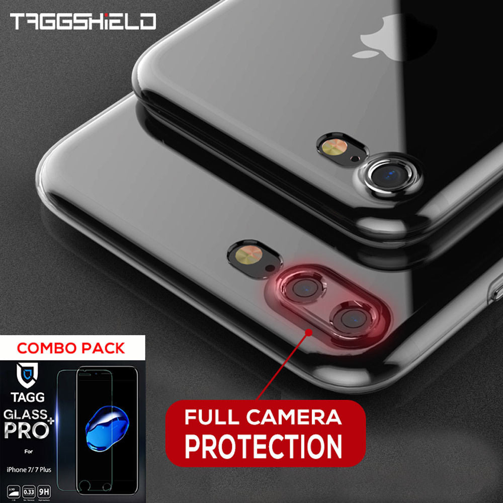 iPhone 7 Plus Case, TAGGSHIELD Ultra thin Slim Crystal Clear Soft Cover
