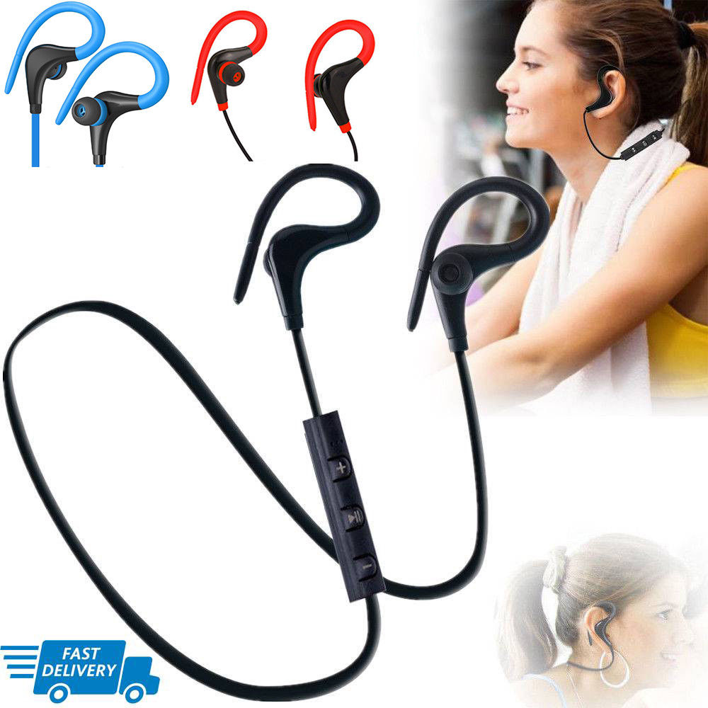 Wireless Sports Bluetooth Headphones,Stereo Earbuds Noise Cancelling Earphones-Blue