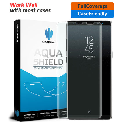 Galaxy Note 8 Screen Protector,Genuine MaxShield HD Aqua Crystal for Samsung