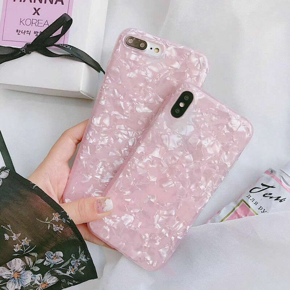 Case For Samsung S9 + Plus Cover Marble Silicone Skin TPU Bumper-Pink