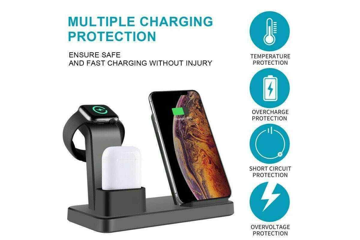3in1 Fast charging Qi Wireless charger For Phones / Apple iPhone iWatch headphone