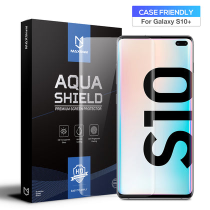 2x Galaxy S10  5G Screen Protector, MaxShield Aqua Crystal for Samsung
