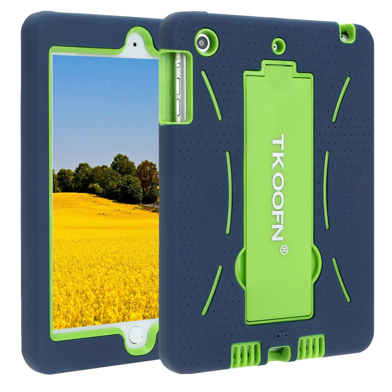 Kids Shockproof Case Heavy Duty Tough Kick Stand Cover for iPad 2 3 4