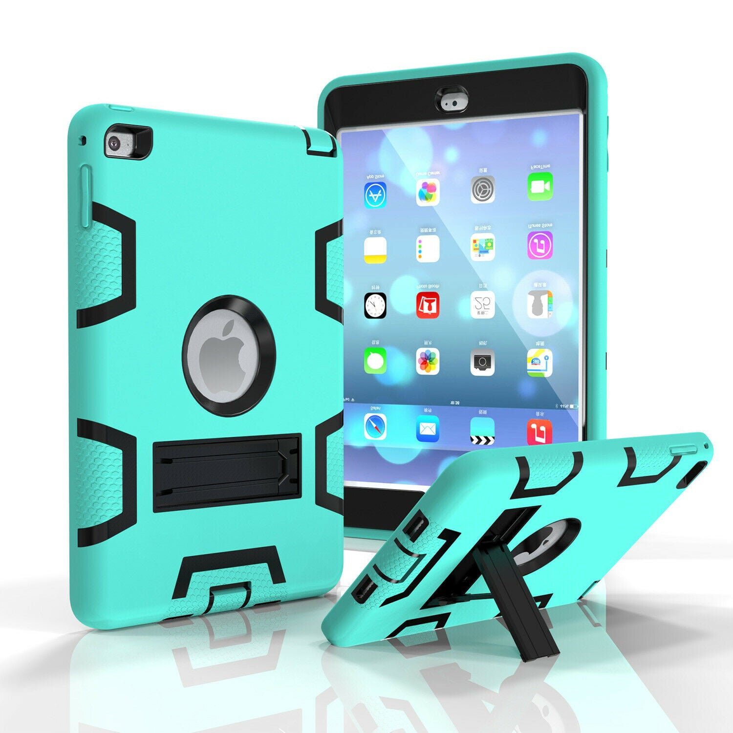 Kids Shockproof Case Heavy Duty Tough Kick Stand Cover for iPad Air