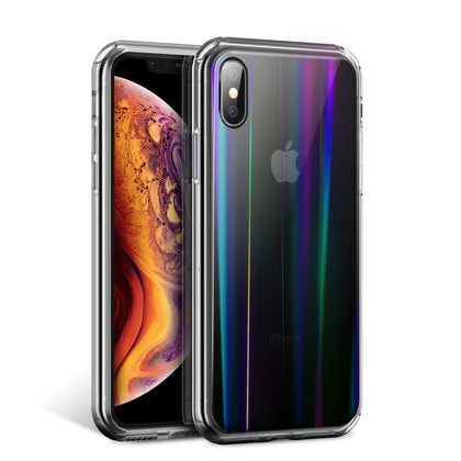 iPhone Xs Max Case Cover, Laser Aurora Crystal Slim Clear Bumper For Apple