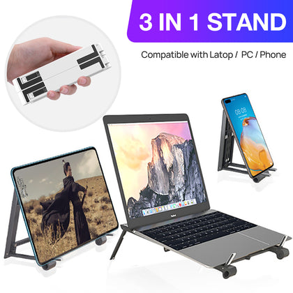Adjustable Folding Laptop Stand Notebook Bracket Portable Tablet Holder iPad AU