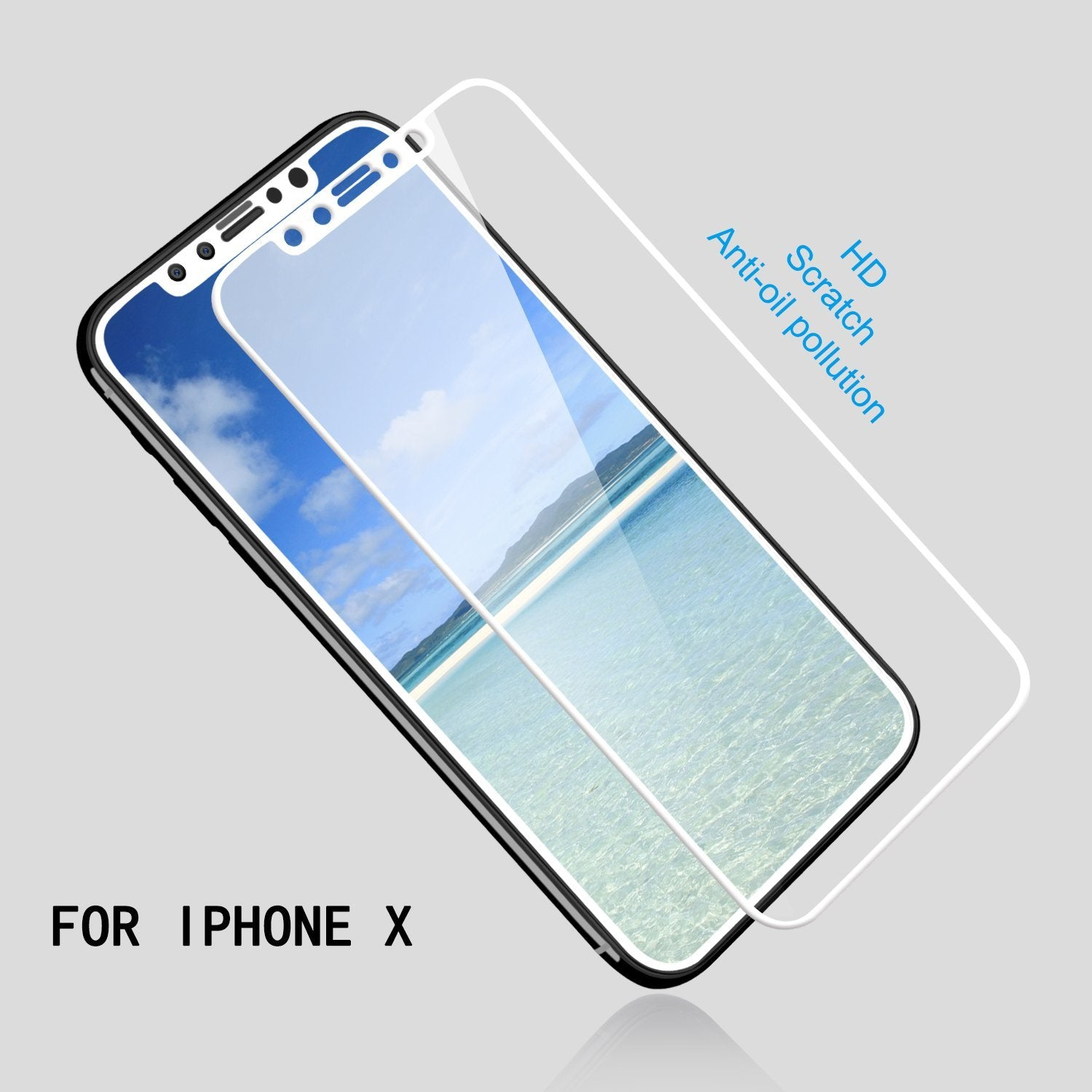 MAXSHILD 5D Full Coverage Glass Screen Protector For Apple iPhone 8 Plus ( White)