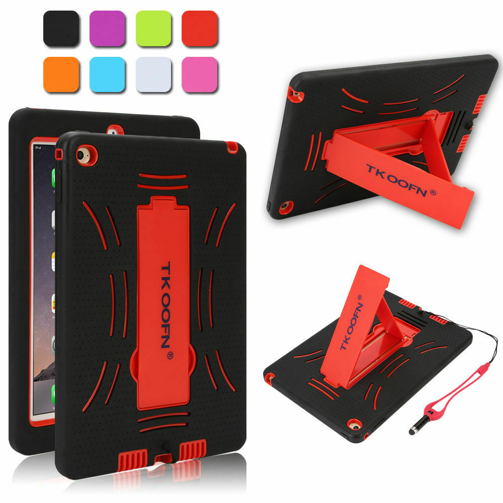 Kids Shockproof Case Heavy Duty Tough Kick Stand Cover for iPad Air 2