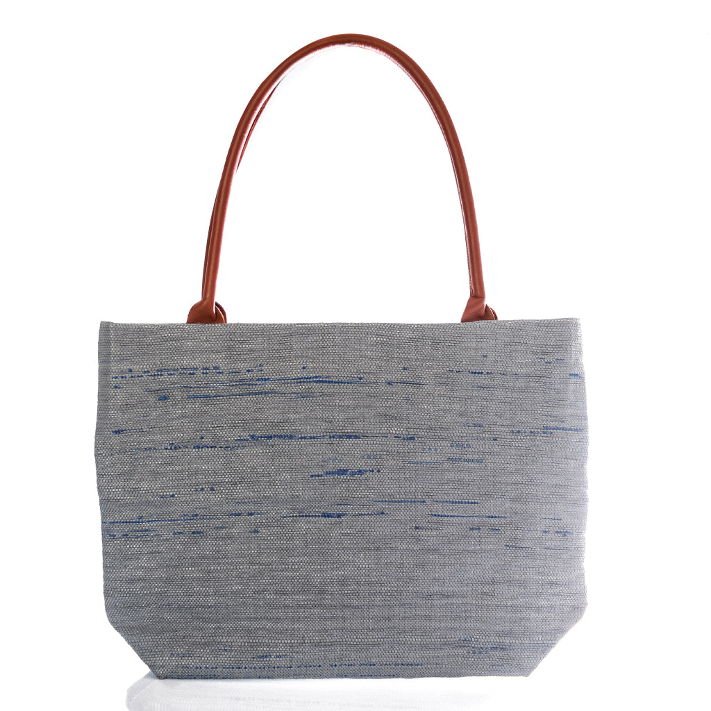 Tote Grey & Brown Leather