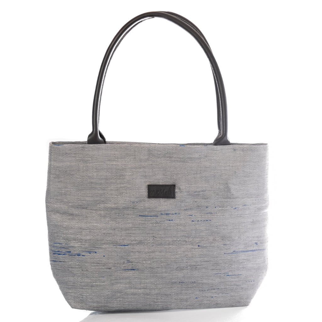 Tote Grey & Black Leather