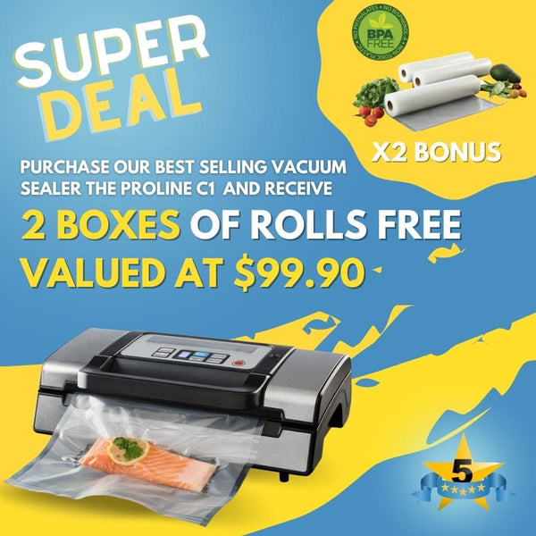 Proline C1 Vacuum Sealer Cryovac Machine Special Vacuum Sealer Roll Offer