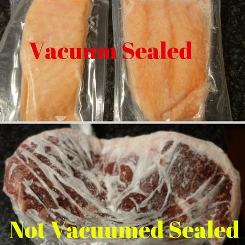 Frozen Vacuum Sealed Food vs Non Vacuum Sealed Frozen Food