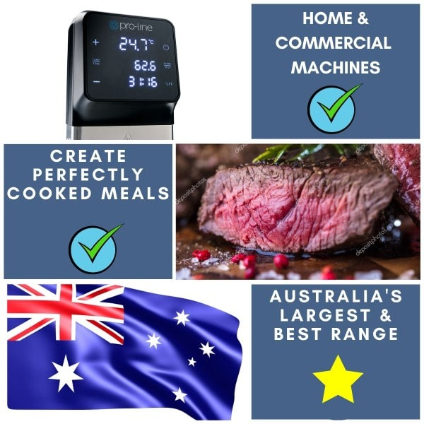 Sous Vide Machines Stocking Australia's Largest and Best Range of Immersion Circulators and Water Baths for Home and Commercial Kitchens.