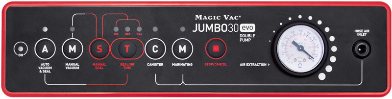 Magic Vac Jumbo 30evo Control Panel