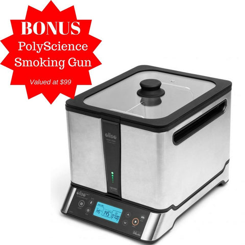 Oliso Sous Vide Smart Hub Induction Cooker with FREE PolyScience Smoking Gun