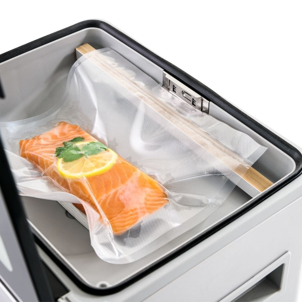 Proline D4 Vacuum Chamber Sealer with Salmon Vacuum Sealed Double Sealed