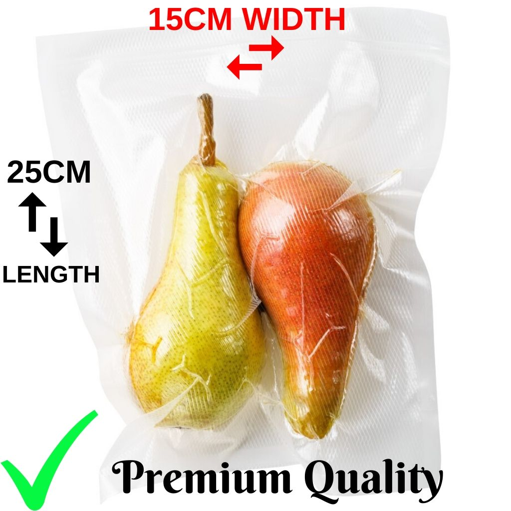Vacuum Sealer Bag Premium 15cmx25cm 100 Bag Pack for Cryovac Machine